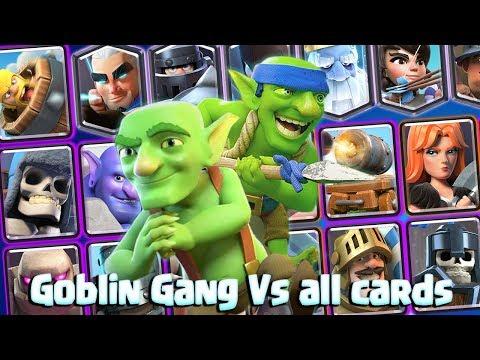Goblin Gang Vs All Cards In Clash Royale Clash Royale